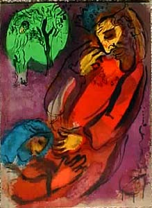 David and Absalom, by Marc Chagall