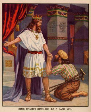 Mephibosheth with King David