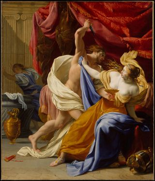 The Rape of Tamar, c 1640, by Eustache Le Sueur (French, 1616–1655), The Metropolitan Museum of Art
