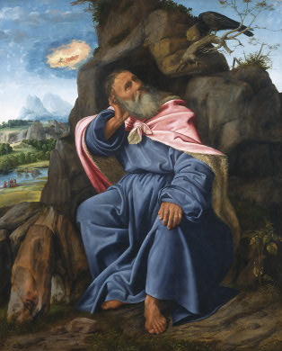 Elijah Fed by the Raven, c. 1510, Giovanni Girolamo Savoldo, National Gallery of Art