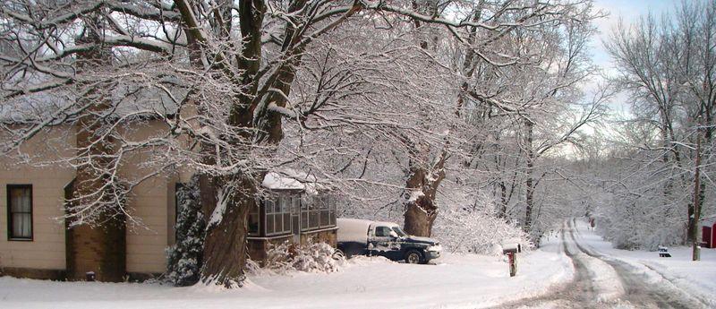 Grandma Harpers House in Winter