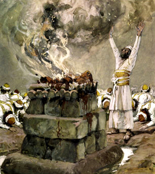 Fire from Heaven Consumes the Sacrifice, c 1900, by James Tissot