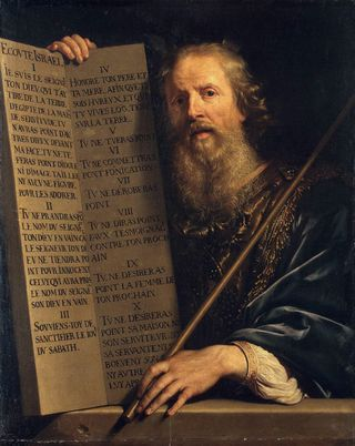 Moses with the Ten Commandments, 1648, by Philippe de Champaigne, The Hermitage, St. Petersburg