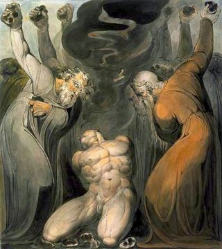 The Blasphemer, by William Blake, c 1800, at the Tate Collection