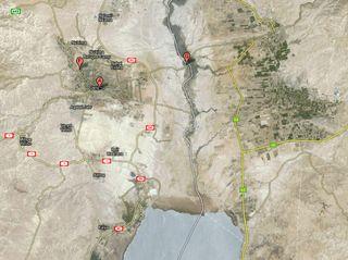 Google Map of Jericho and Jordan River