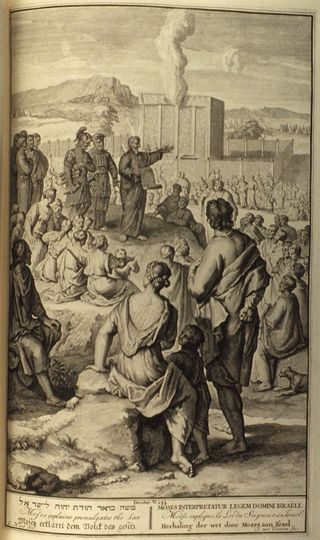 Moses Explains the Law, 1728, Figures de la Bible