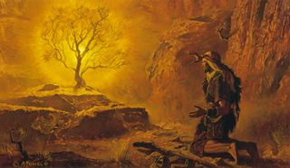 Moses and the Burning Bush, by A. Friberg