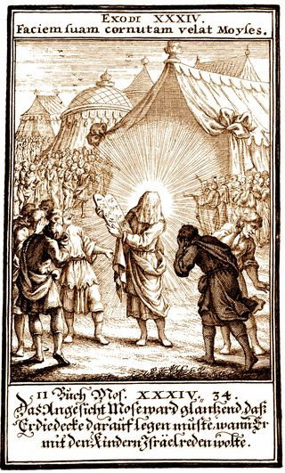 Moses' Face, 1695, Christoph Weigel, Biblia ectypa : Bildnussen auss Heiliger Schrifft Alt und Neuen Testaments
