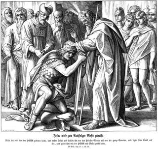 Commissioning of Joshua, 1853, by Julius Schnorr von Carolsfeld, from Die Bibel in Bildern