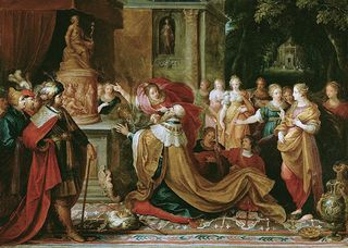 The Idolatry of Solomon, Frans Francken II Flemish, 1622