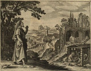 Prophet Micah Foretells the Birth of Christ, 1670, Gérard Jollain