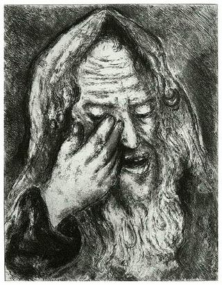 Lamentations Suffering of Jeremiah Marc Chagall