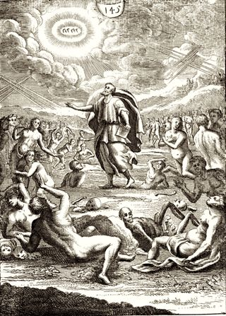 The Valley of Dry Bones, Ezekiel 37, by Nicolas Fontaine, Pitts Theological Library Digital Archive