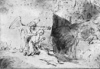 Vision of Daniel, by Rembrandt