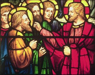 Stained Glass:  Jesus Preaching