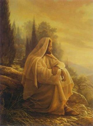 Jesus Looking Over Jerusalem