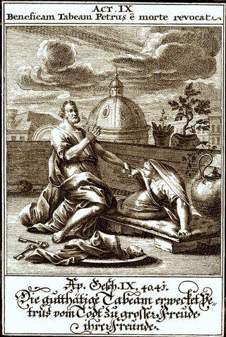 Peter Raising Tabitha From Death, Weigel, Christoph, 1654-1725