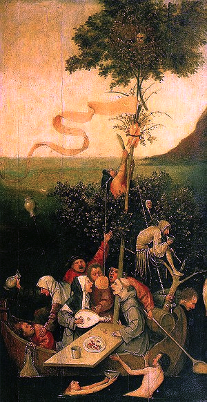 """Ship of Fools"", c 1490, by Hieronymus Bosch"