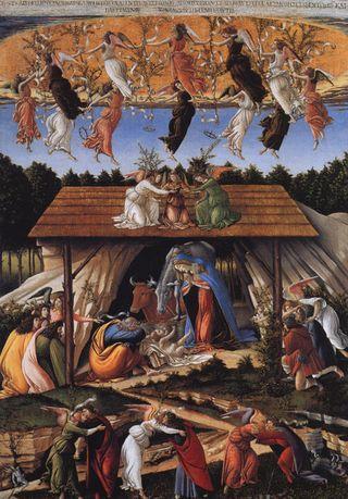 Mystic Nativity, 1500, Sandro Botticelli, The National Gallery, England