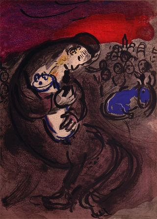Jeremiahs Lamentation, by Marc Chagall