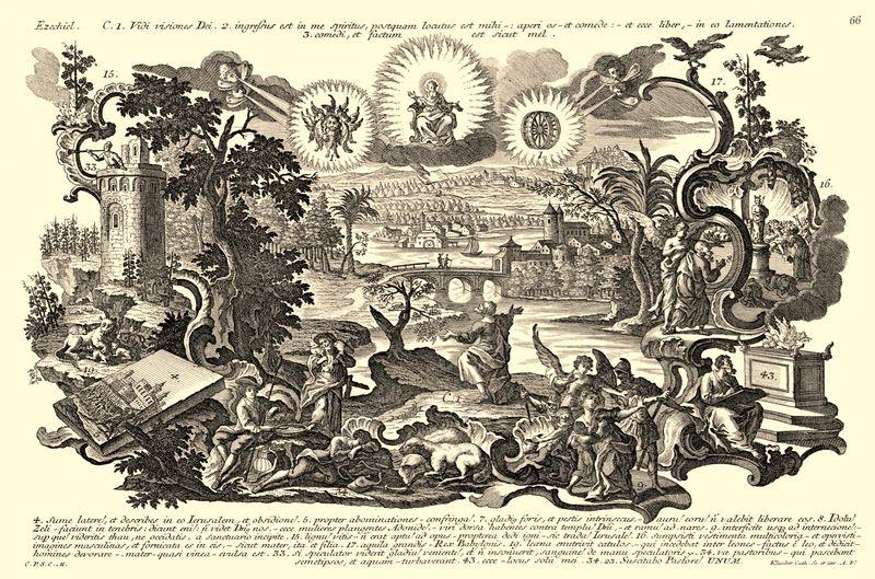 Ezekiels Vision, Klauber, Joseph Sebastian, ca. 1700-1768