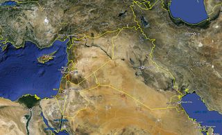 Google Map of the Middle East