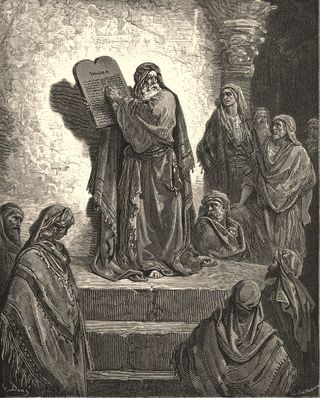 Ezra Reading Law, by Gustave Dore