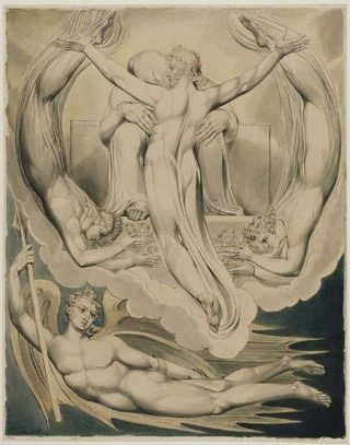 Christ Accepting the Office of Redeemer William Blake, Boston Museum of Fine Arts