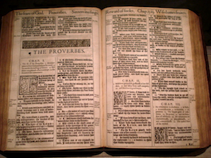 King James Bible from 1617