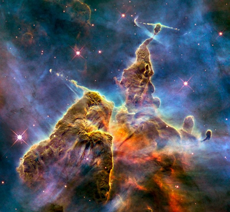 Hubble Telescope Mystic Mountain